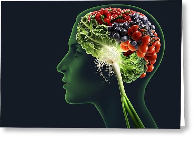 Brain Food, Conceptual Image Greeting Card by Smetek