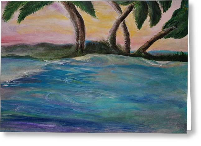 Breathing Sunset Greeting Card by Tifanee  Petaja