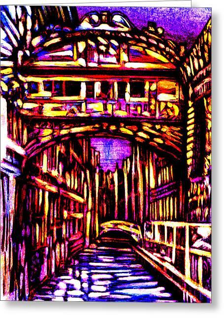 Bridge Of Sighs Greeting Card by Giuliano Cavallo