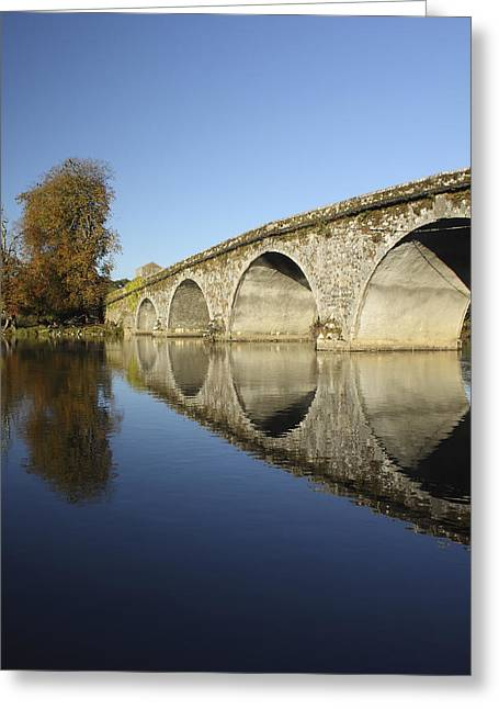 Bridge Over River Nore Bennettsbridge Greeting Card by Trish Punch