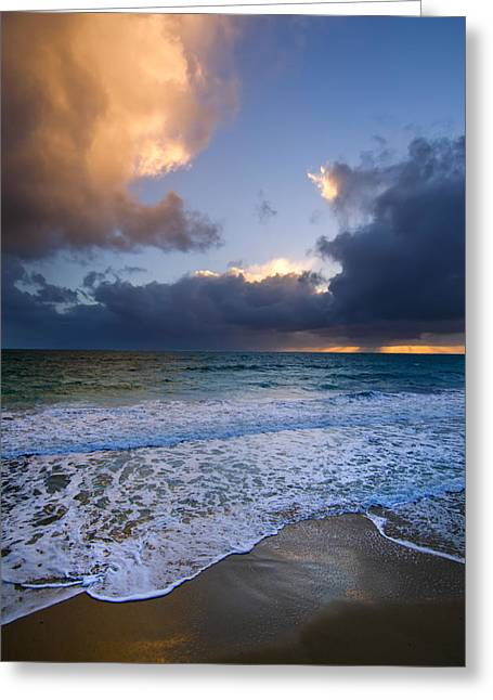 Brighton Beach Sunset Wa Greeting Card by Imagevixen Photography