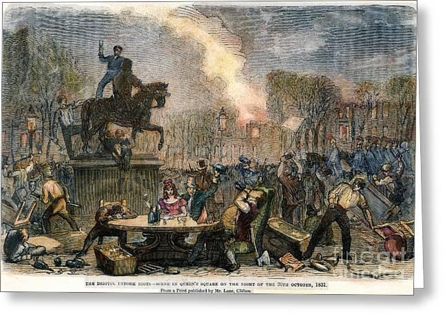 Bristol: Reform Riot, 1831 Greeting Card by Granger