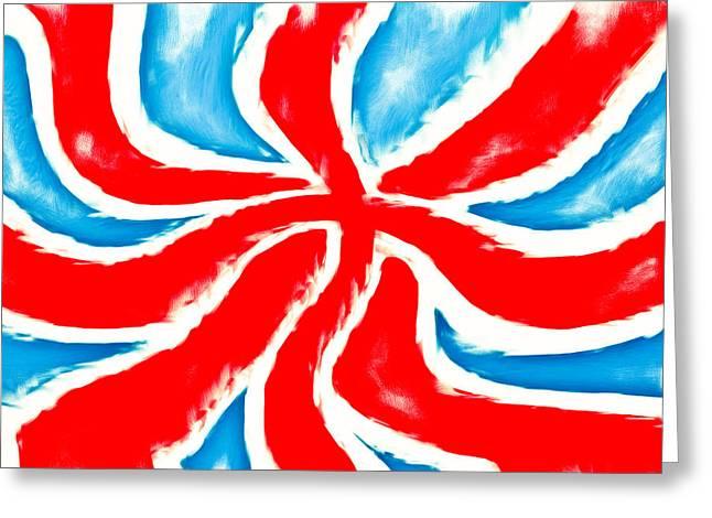 British Flag Greeting Card by Tom Gowanlock