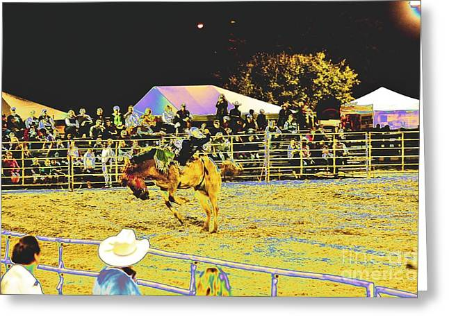 Bucked Off Greeting Card