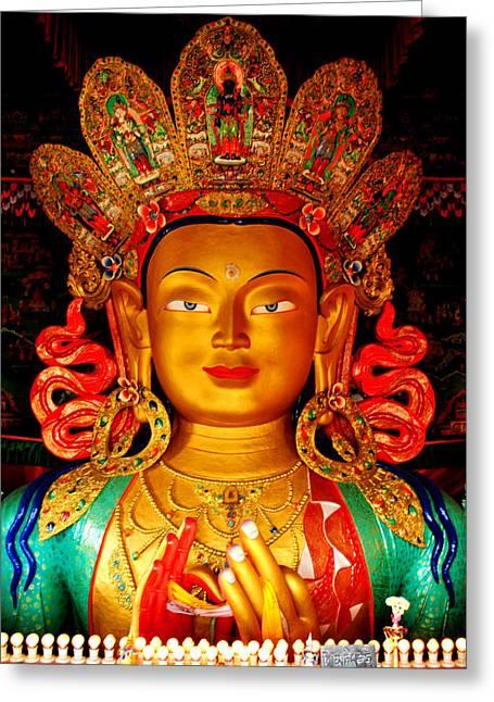 Budha  Greeting Card by Saira Ks