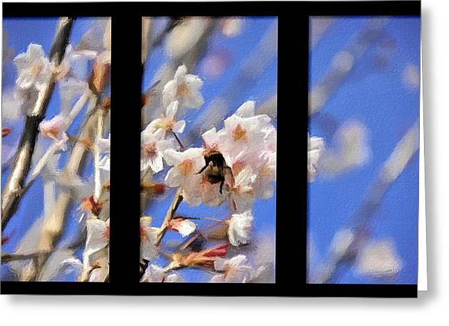 Bumble Bee Greeting Card by Svetlana Sewell