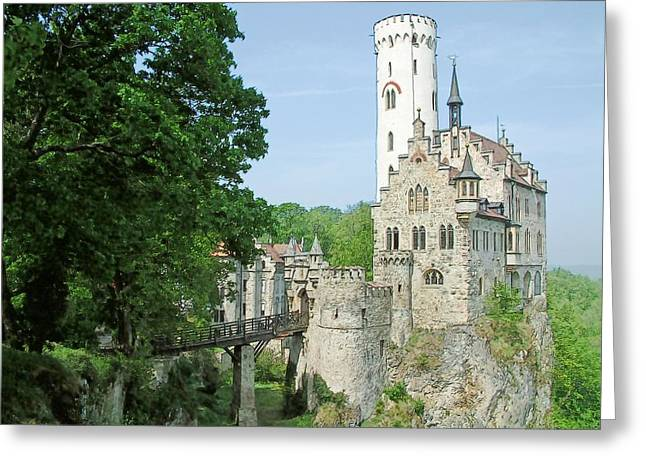 Burg Lichtenstein Greeting Card by Joseph Hendrix