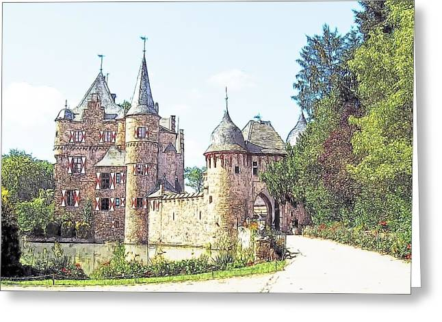 Burg Satsvey Germany Greeting Card by Joseph Hendrix