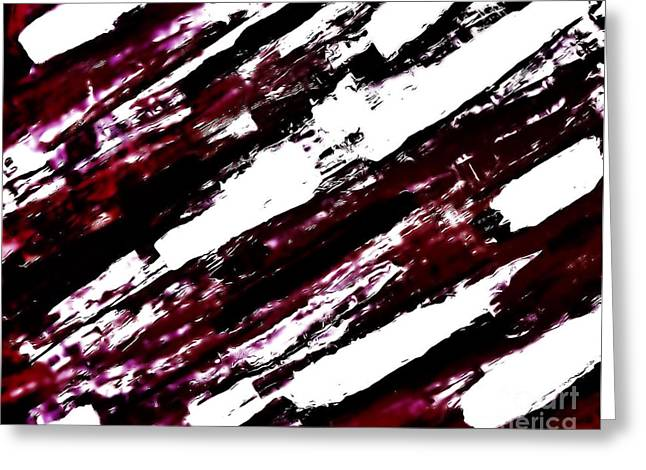 Burgundy Abstract Greeting Card by Marsha Heiken