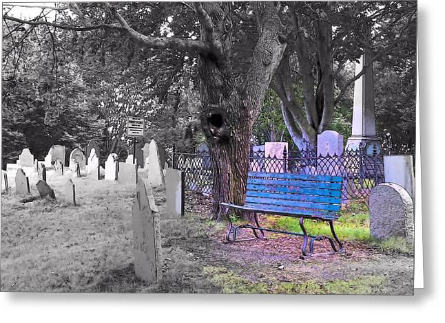 Burial Hill  Greeting Card by Janice Drew