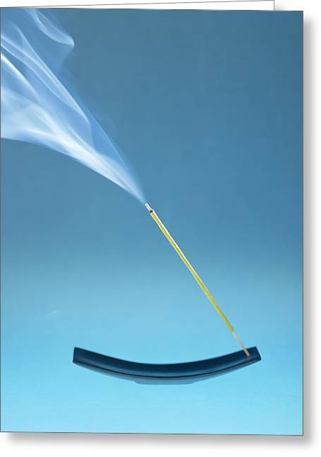 Burning Incense Greeting Card by Lawrence Lawry
