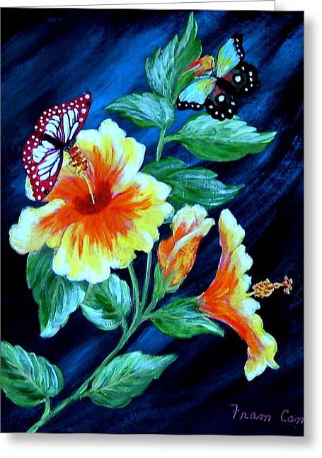 Butterflies And Blooms Greeting Card