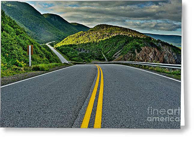 Cabot Trail Greeting Card by Joe  Ng