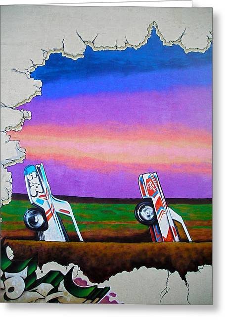 Cadillac Ranch - Montreal Greeting Card by Juergen Weiss