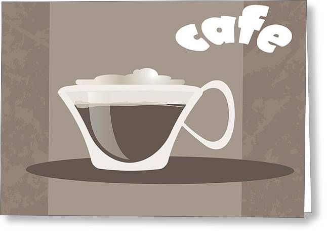 Cafe Greeting Card by HD Connelly