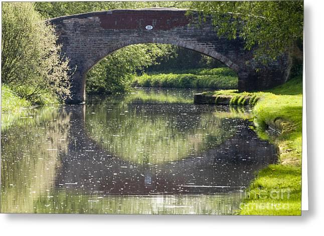 Canal Bridge Greeting Card by Steev Stamford
