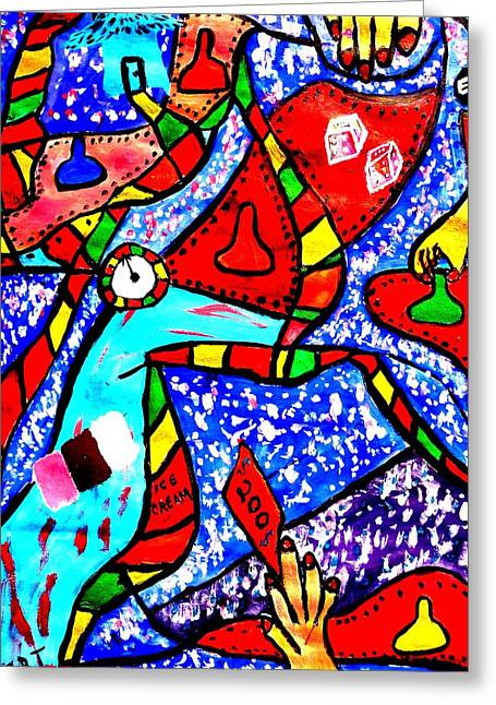 Candyland Greeting Card by Eliezer Sobel