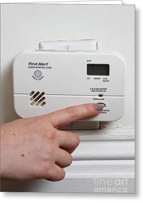Carbon Monoxide Alarm Greeting Card