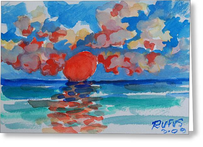 Caribe Sunset Greeting Card
