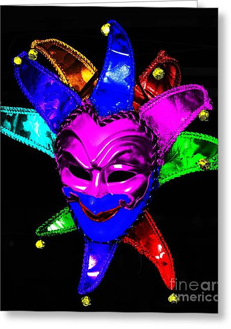 Greeting Card featuring the digital art Carnival Mask by Blair Stuart