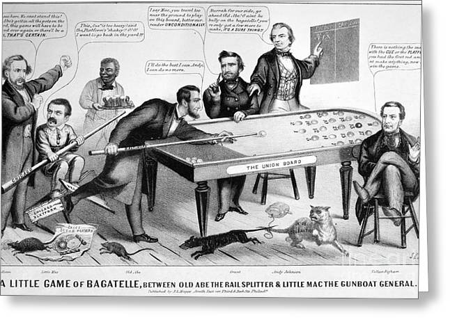 Cartoon: Election Of 1864 Greeting Card