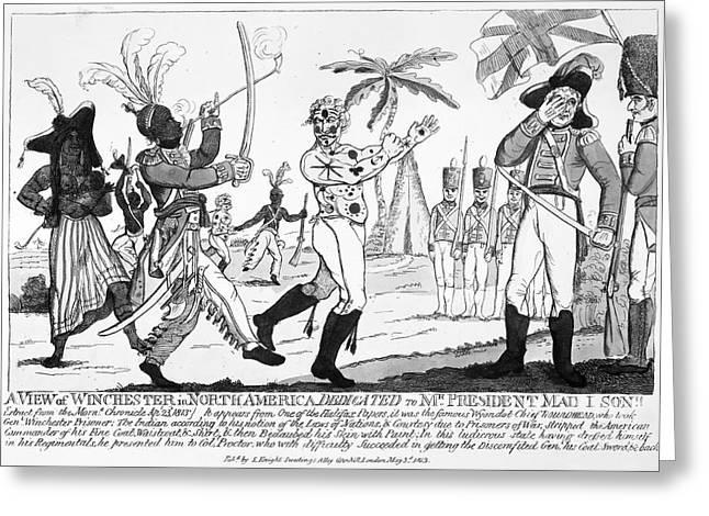 Cartoon: War Of 1812 Greeting Card