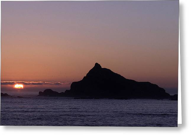 Greeting Card featuring the photograph Castle Rock Sunset by Betty Depee