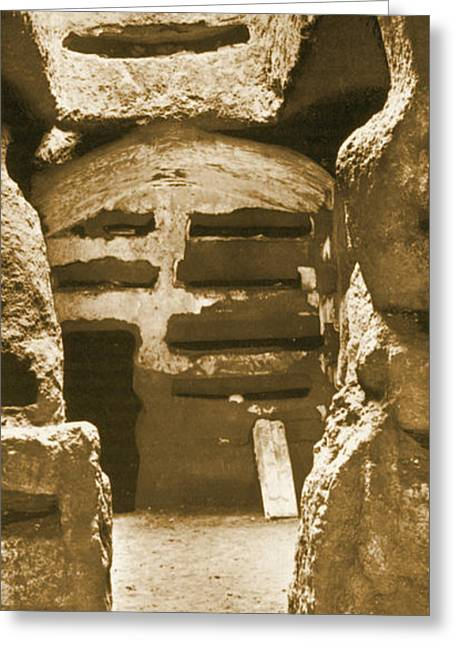 Catacombs Greeting Card by Science Source