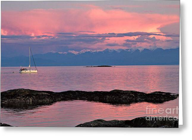 Cattle Point And The Strait Of Juan De Fuca Greeting Card