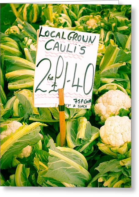 Cauliflower Greeting Card by Tom Gowanlock