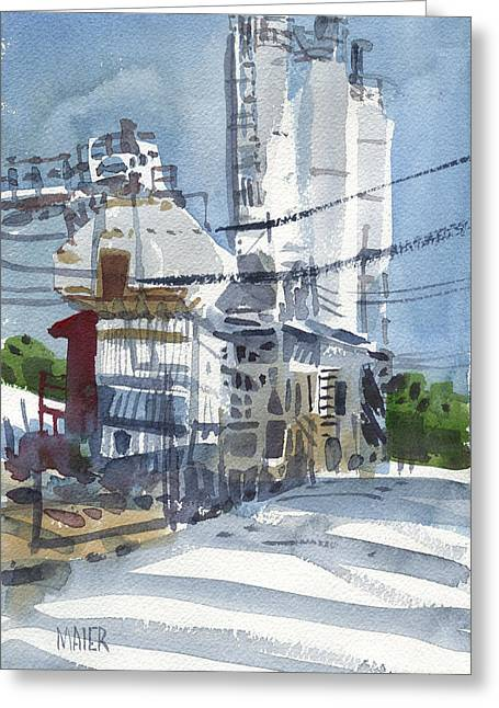Cement Hopper Greeting Card by Donald Maier