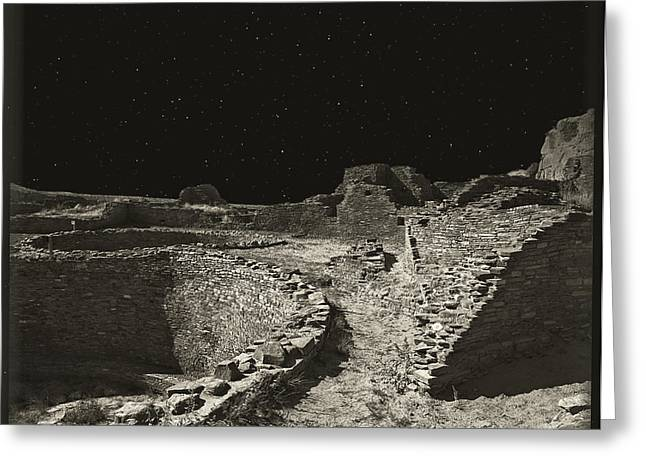 Chaco Canyon Greeting Card by Gordon Engebretson