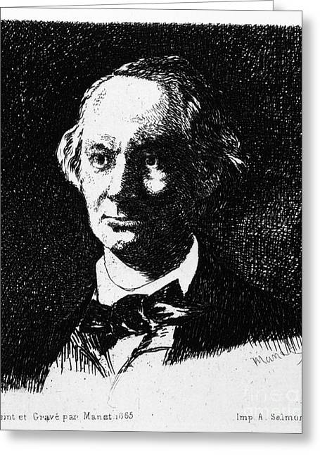 Charles Baudelaire Greeting Card by Granger