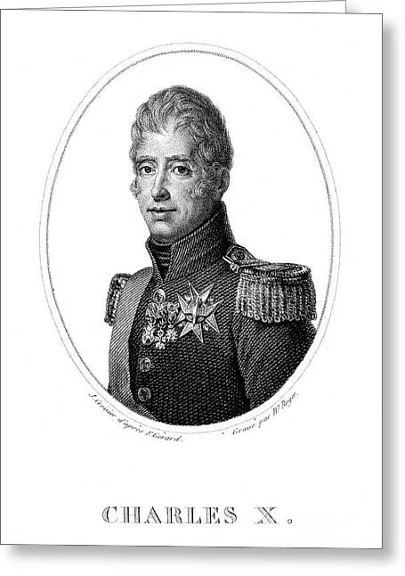 Charles X (1757-1836) Greeting Card by Granger