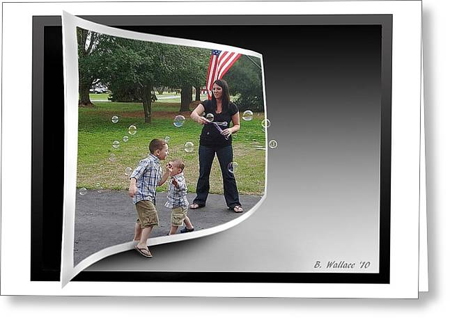 Greeting Card featuring the photograph Chasing Bubbles by Brian Wallace