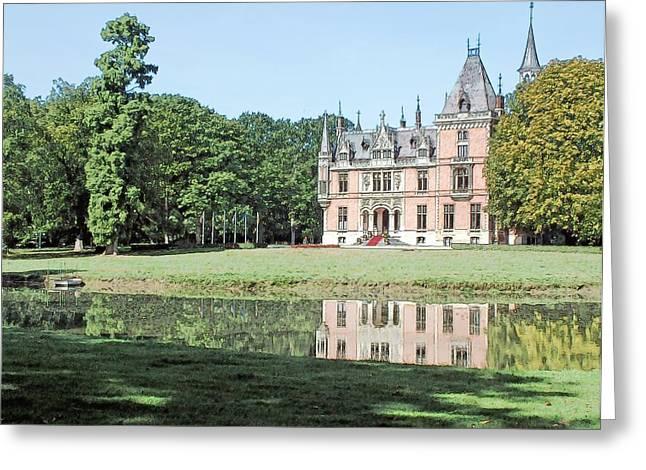 Chateau Aertrycke Torhout Belgium Greeting Card by Joseph Hendrix