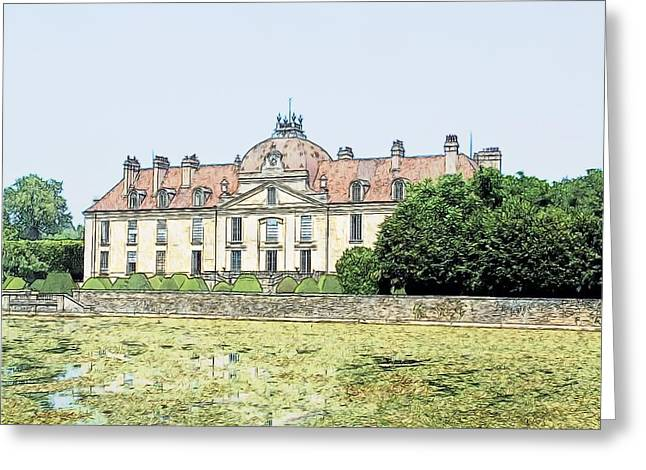Chateau Fontaine Francaise Fontaine Francaise France Greeting Card by Joseph Hendrix