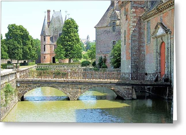 Chateu Carrouges Normandy France Greeting Card by Joseph Hendrix
