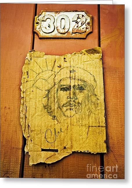 Che Guevara Greeting Card by Greg Stechishin