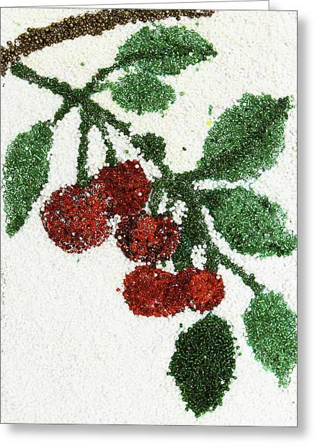 Cherry Greeting Card by Natalya A