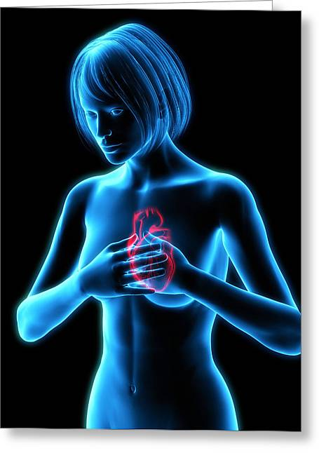 Chest Pains Greeting Card by Roger Harris