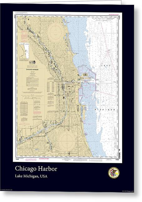 Chicago Harbor Greeting Card by Adelaide Images