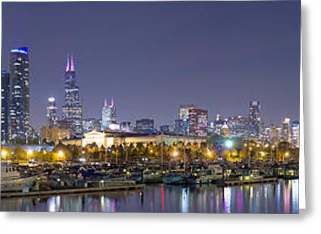 Chicago Skyline From Burnham Harbor Greeting Card