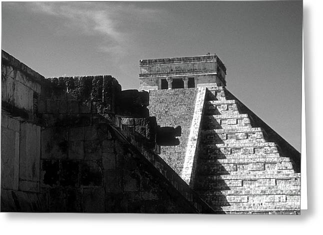 Chichen Itza Ruins Yucatan Mexico Greeting Card by John  Mitchell