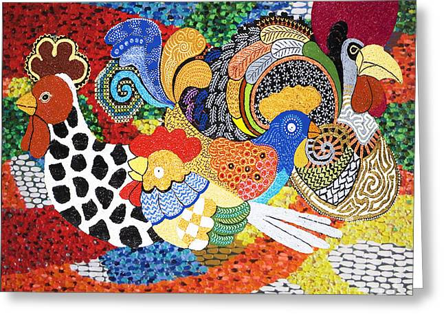 Chickens Greeting Card by Jerry L Barrett