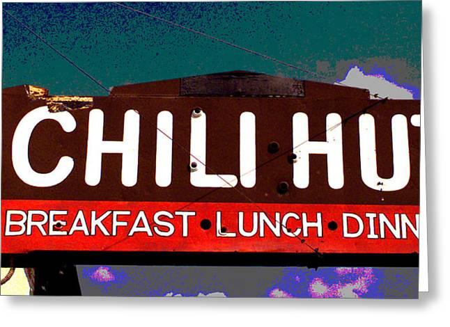 Chili Hut Greeting Card by Ron Regalado