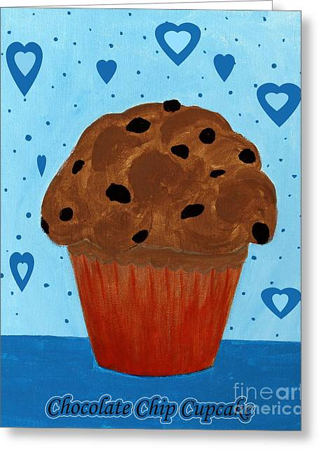 Chocolate Chip Cupcake Greeting Card by Barbara Griffin