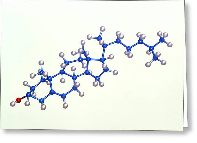 Cholesterol Molecule Greeting Card