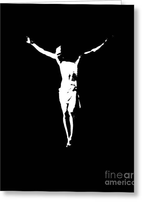 Christ In Black And White  Greeting Card