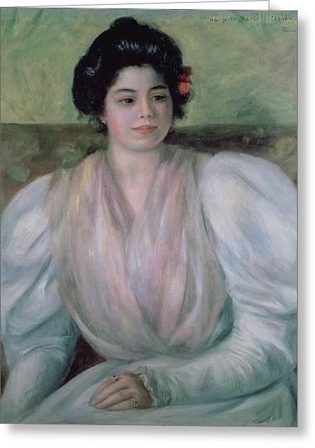 Christine Lerolle Greeting Card by Pierre Auguste Renoir